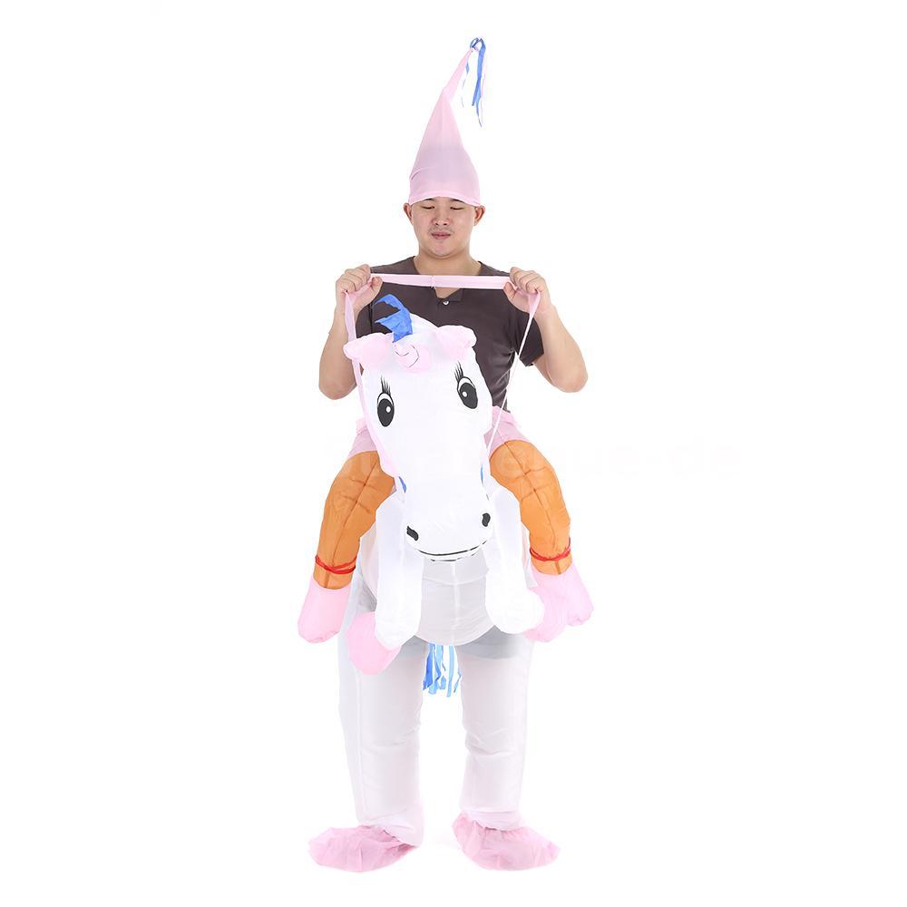 Anself Erwachsene Aufblasbare Einhorn Kostüm Anzug Kostümfest ...